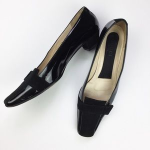 Gucci patent leather flats with suede accents, 9